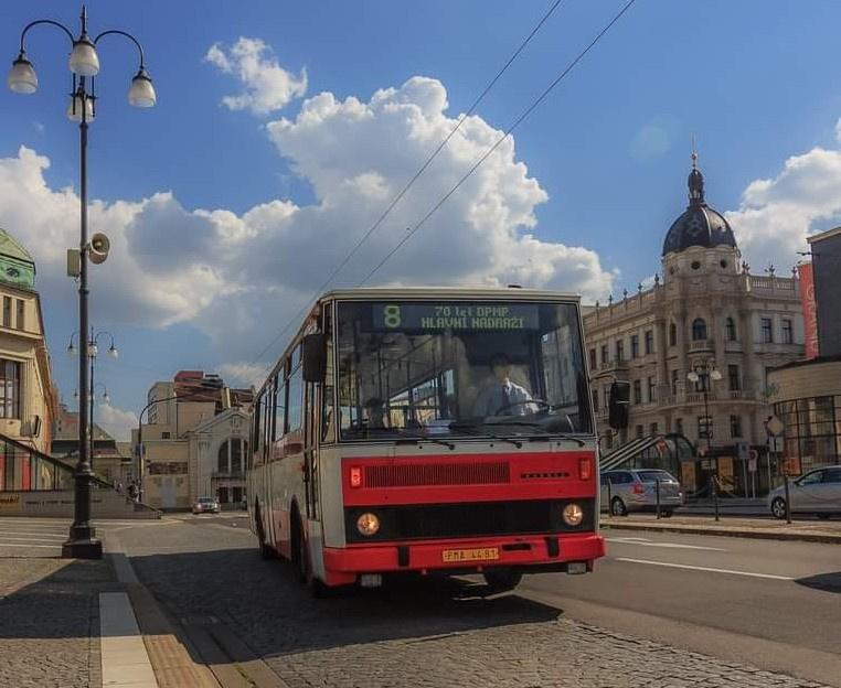 Mimořádné jízdy autobusu Karosa B731 na lince 18 dne 15.8.2021